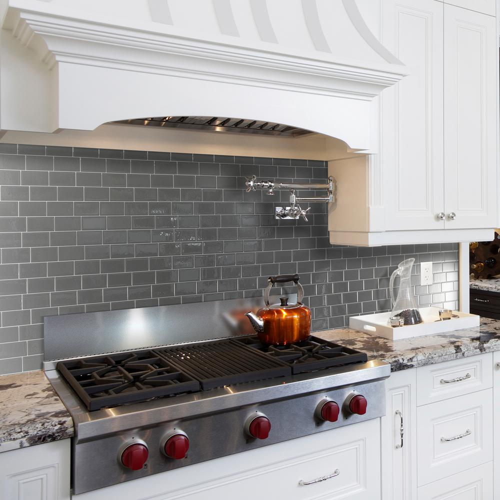 Smart tiles metro grigio 1156 in w x 838 in h peel and stick smart tiles metro grigio 1156 in w x 838 in h peel and stick self adhesive decorative mosaic wall tile backsplash 6 pack sm1064 6 the home depot dailygadgetfo Image collections
