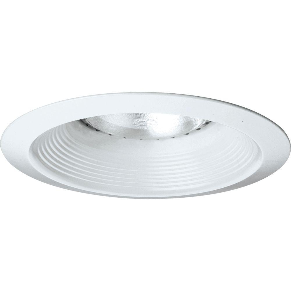 Progress Lighting 6 in. White Recessed Baffle Trim  sc 1 st  Home Depot & Progress Lighting 6 in. White Recessed Baffle Trim-P8075-28 - The ...