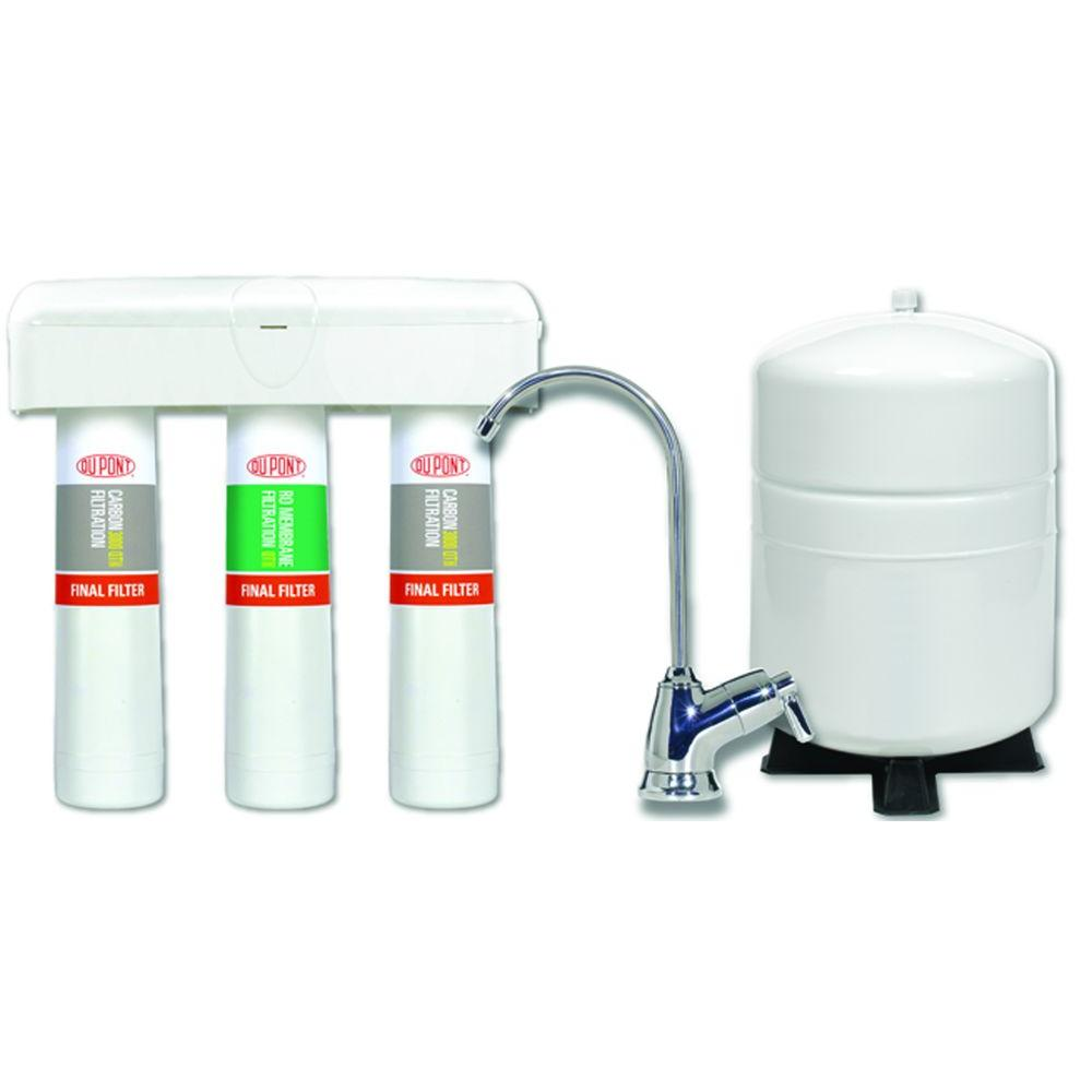 DuPont 3 Stage QuickTwist Reverse Osmosis Water Filtration System