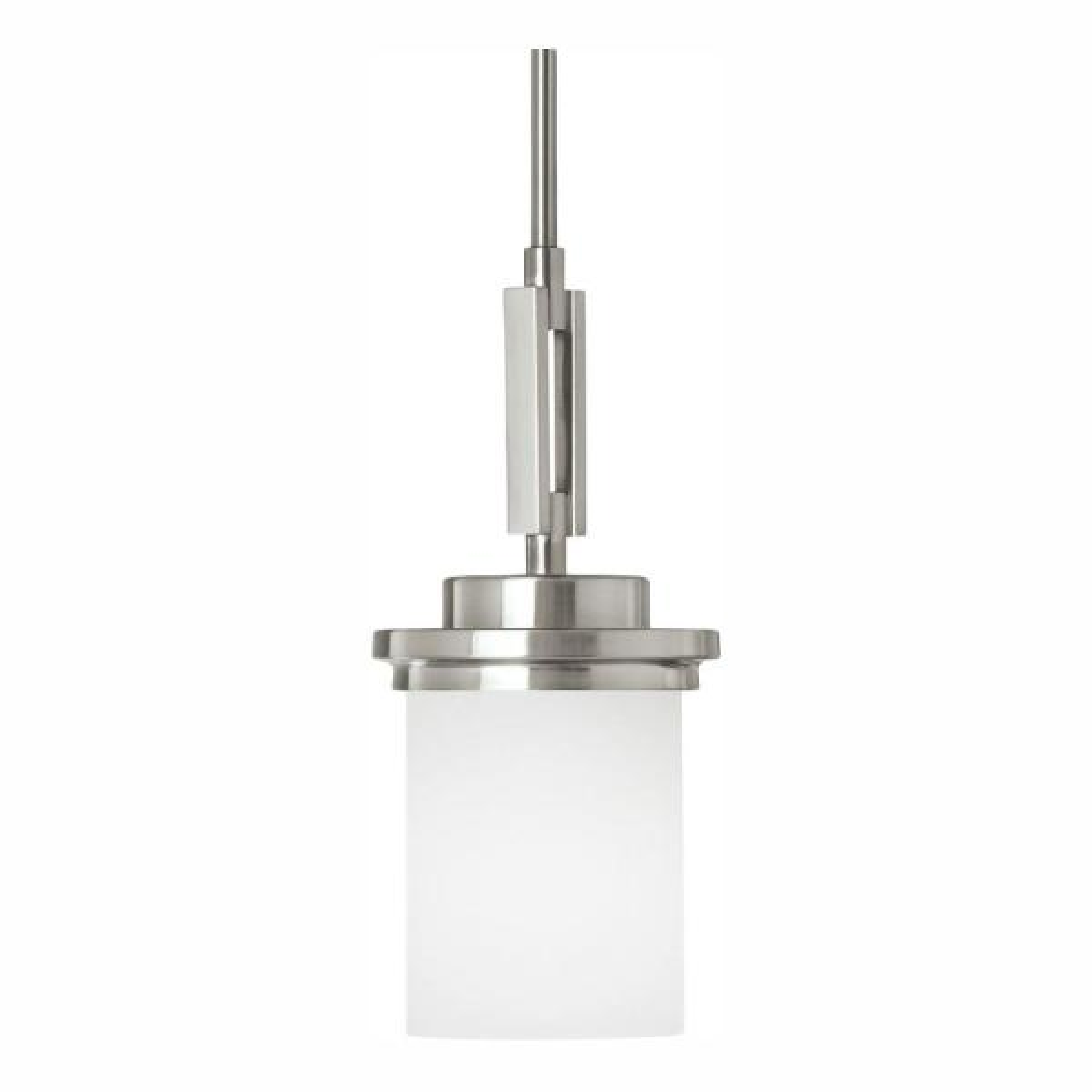 Winnetka 1-Light Brushed Nickel Pendant with LED Bulb