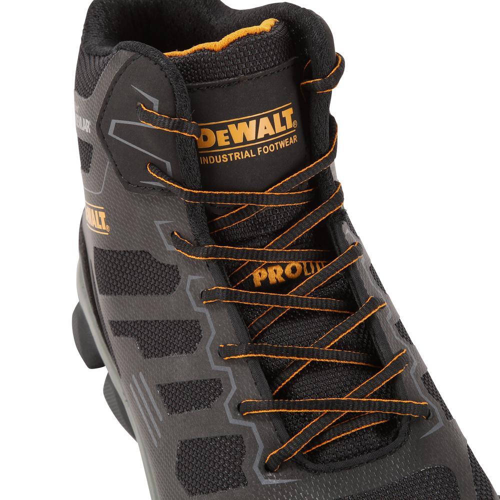 473a50973cd DEWALT Crossfire Mid Men's Black Kevlar Aluminum Toe Puncture Resistant  ProLite Work Boot