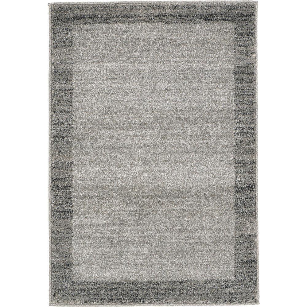 Unique Loom Del Mar Abigail Light Gray 2' 2 x 3' 0 Area Rug