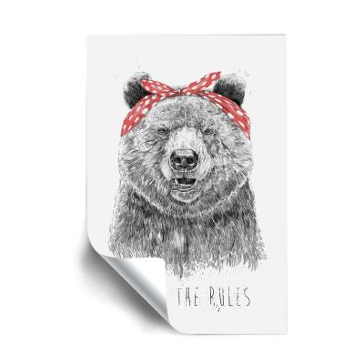"""""""Break the rules"""" Animals Removable Wall Mural"""