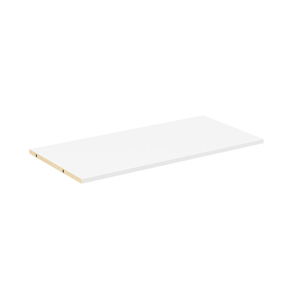 Easentials 2-Shelf 30 in. White Wood Adjustable Shelf Kit