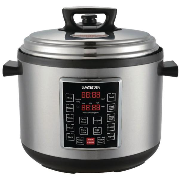 14 Qt. Stainless Steel Electric Pressure Cooker XXL with Ceramic Pot
