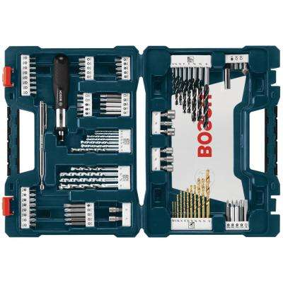 High Speed Steel Drilling and Driving Mixed Bit Set (91-Piece)