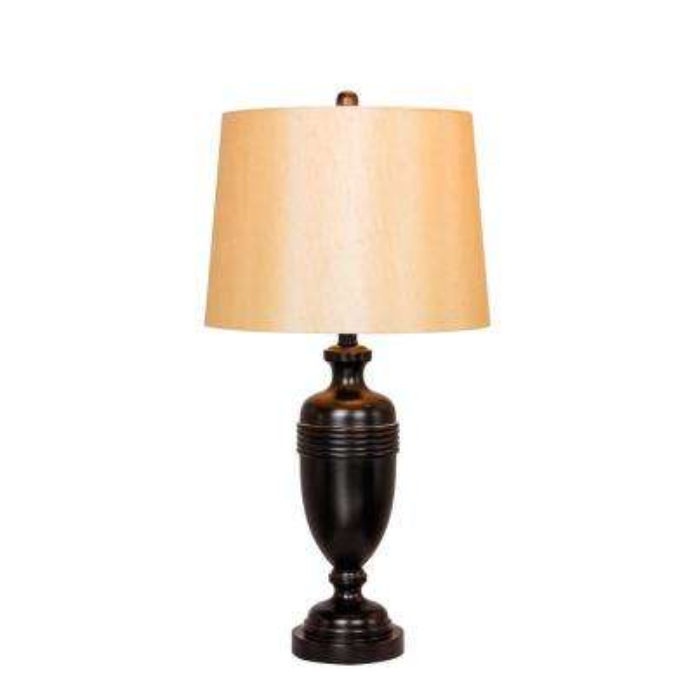 29.25 in. Bronze Metal Decorative Urn Table Lamp