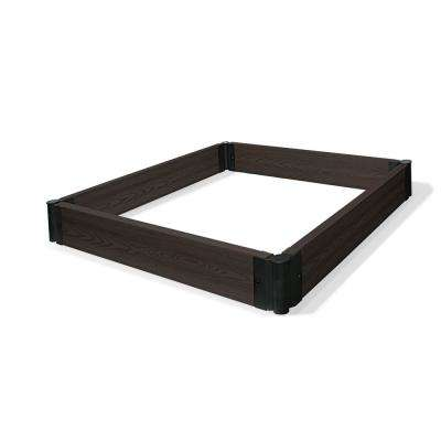 MGM 48 in. x 48 in. Brown Composite Modular Garden in Minutes Raised Garden Bed