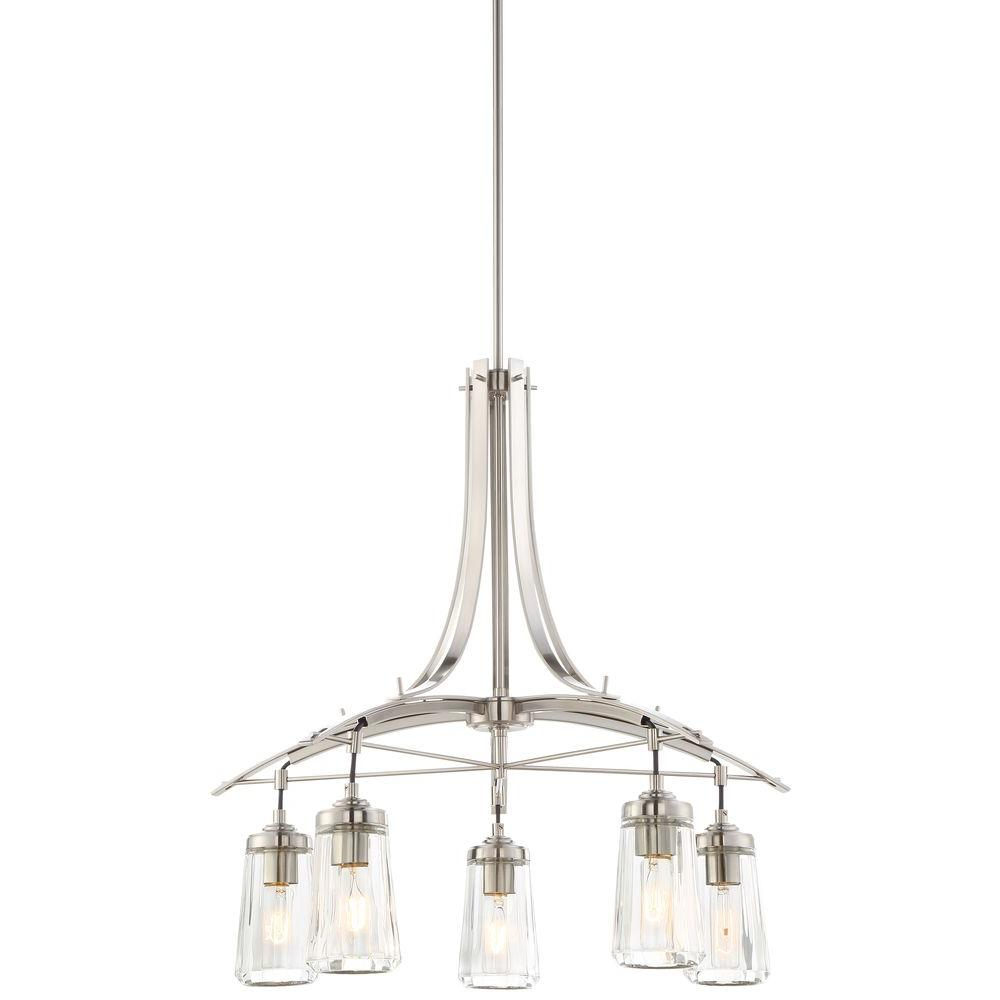 Minka lavery poleis 5 light brushed nickel chandelier 3305 84 the minka lavery poleis 5 light brushed nickel chandelier arubaitofo Choice Image