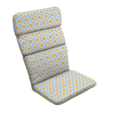 20 in. x 28.5 in. Honeycomb Outdoor Adirondack Chair Cushion
