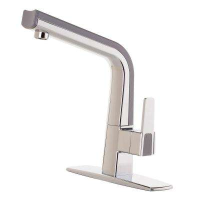 Matisse Single-Handle Standard Kitchen Faucet in Chrome and Gray
