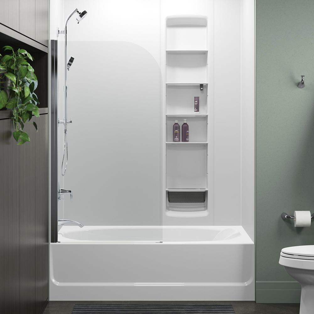 STERLING Whiston 32 in. x 56.9375 in. Frameless Fixed Tub Door in ...