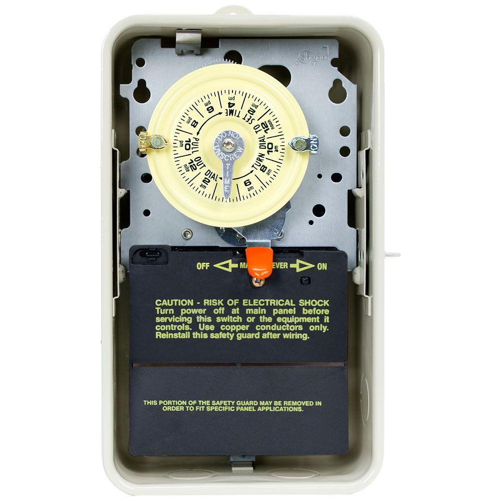 T104R Series 40-Amp 24-Hour Mechanical Time Switch with Outdoor Steel Enclosure