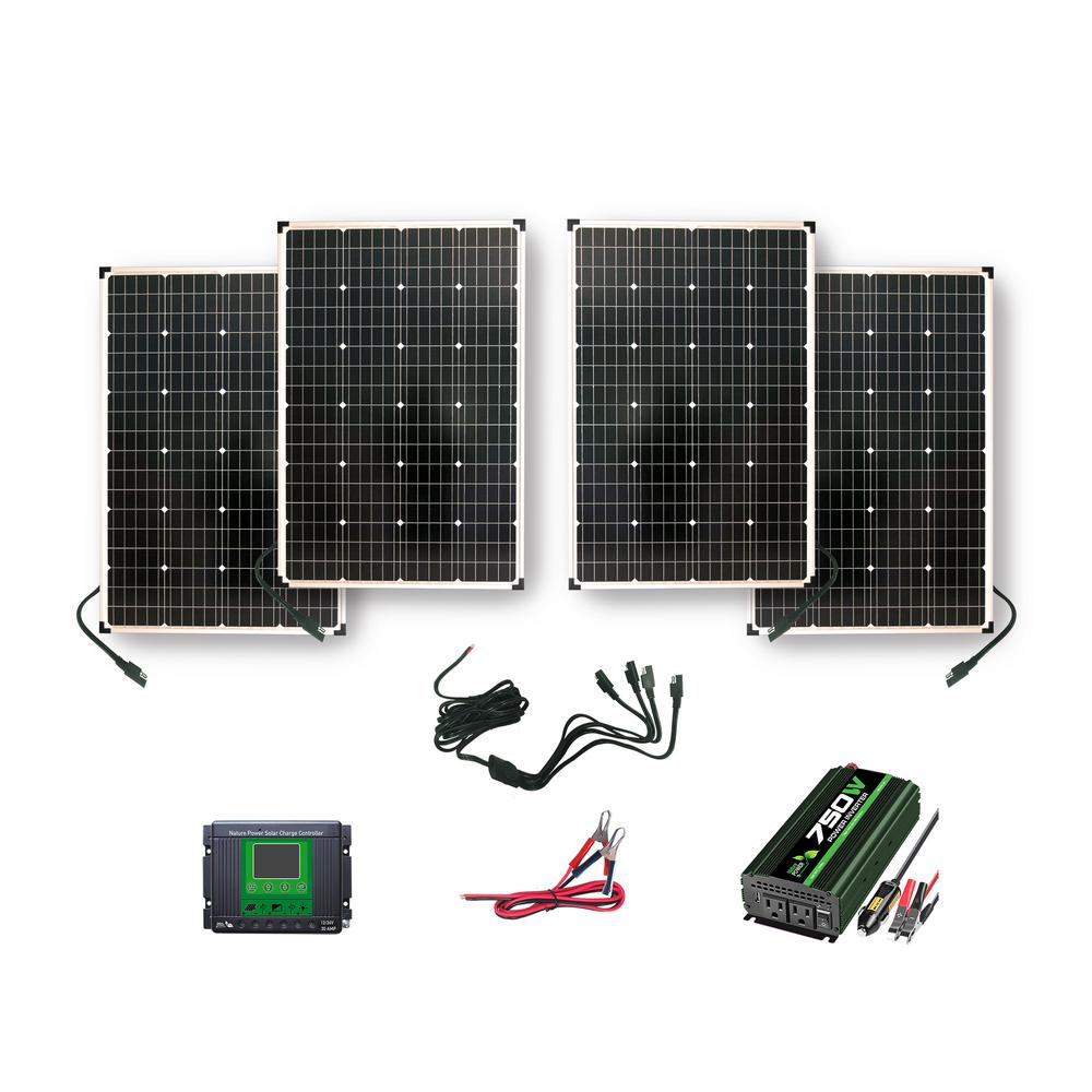 Nature Power 440-Watt Polycrystalline Solar Panels with 750-Watt Power Inverter and 30 Amp Charge Controller was $698.99 now $487.0 (30.0% off)