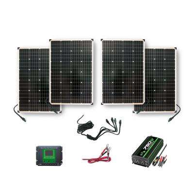 440-Watt Polycrystalline Solar Panels with 750-Watt Power Inverter and 30 Amp Charge Controller