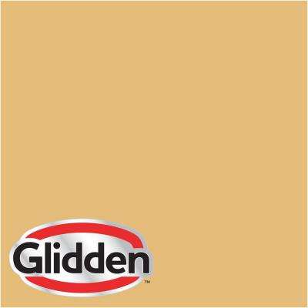 8 oz. #HDGY07D Rapunzel's Golden Locks Flat Interior Paint Sample