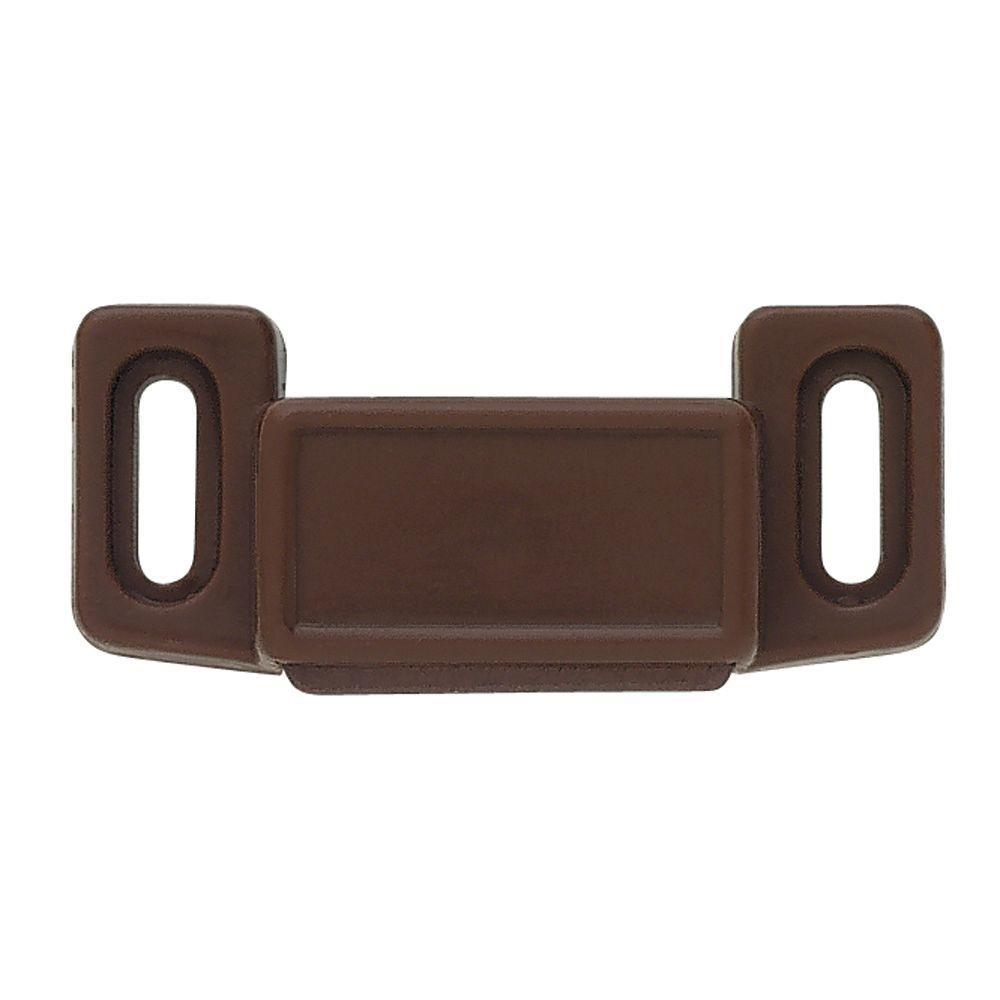 1-1/2 in. Brown Economy Magnetic Door Catch