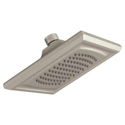 Town Square S 1-Spray 6 in. Fixed Showerhead with WaterSense 2.5 GPM in Brushed Nickel