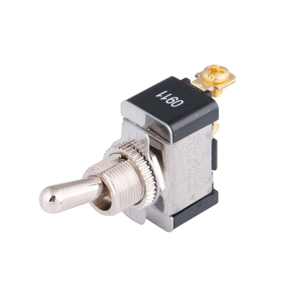 Calterm 15 Amp Heavy Duty Metal Toggle Switch 41730 The Home Depot Of Momentary Switches Spst Should Only Require Two Terminals