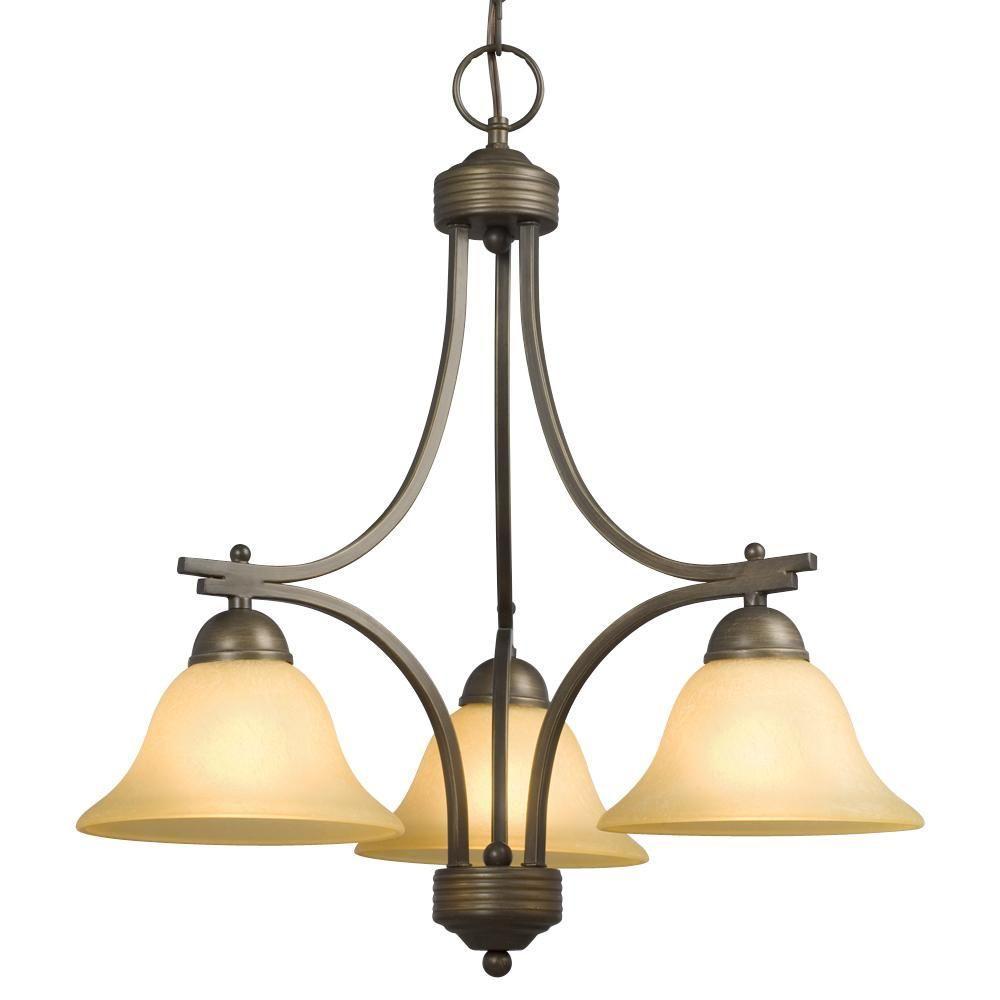 Filament Design Negron 3-Light Oil Rubbed Bronze Incandescent Chandelier