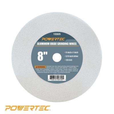 8 in. x 1 in. x 5/8 in. 120 Grit White Aluminum Oxide Grinding Wheel