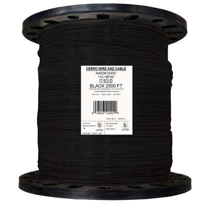 2500 ft. 12 Black Solid THHN Wire