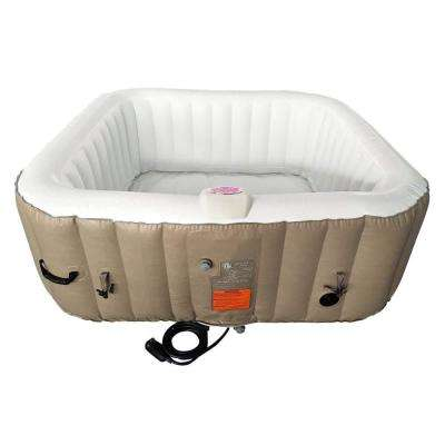 6-Person 130-Jet Inflatable Hot Tub with Cover