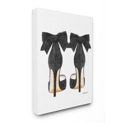 """16 in. x 20 in. """"Glam Pumps Heels With Black Bow"""" by Amanda Greenwood Printed Canvas Wall Art"""