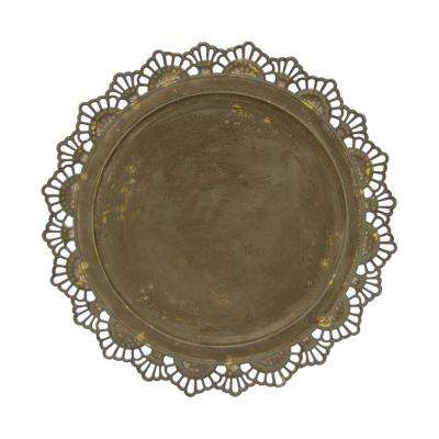 Brown Metal Charger Plate