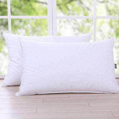 Triple Chamber Feather and Down Pillow, Twin Pack Queen in White