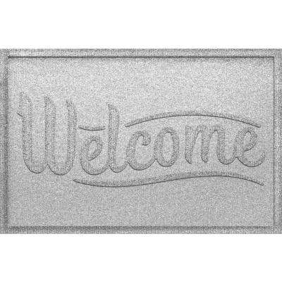 Simple Welcome White 24x36 Polypropylene Door Mat