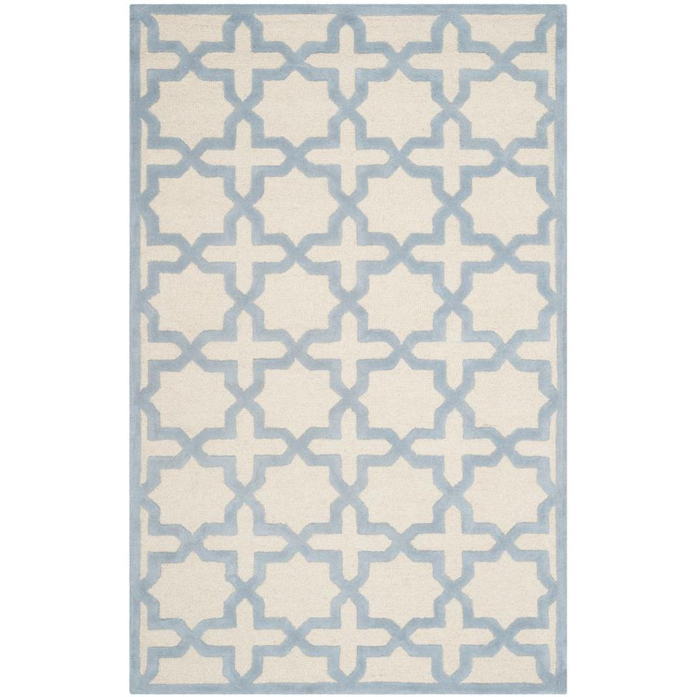 cambridge ivorylight blue 8 ft x 10 ft area rug