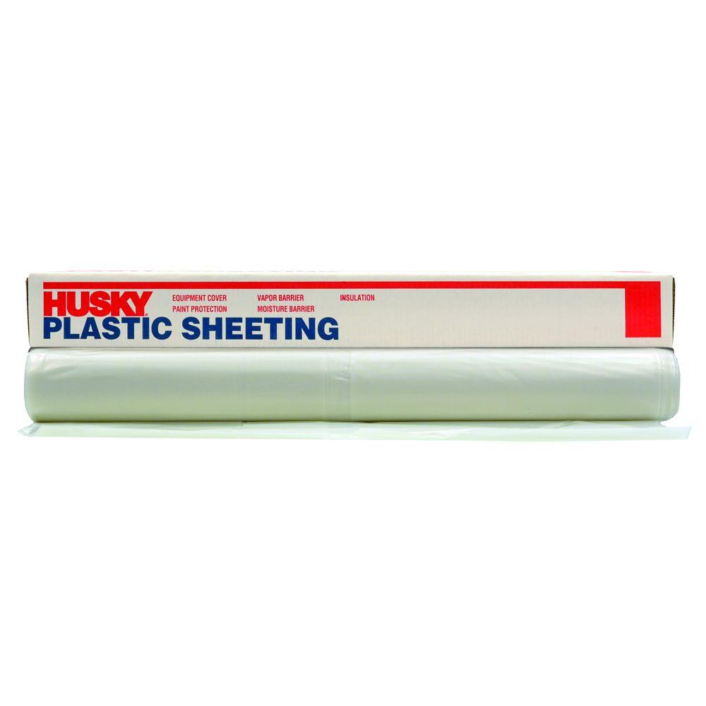 12 ft x 50 ft clear 4 mil plastic sheeting