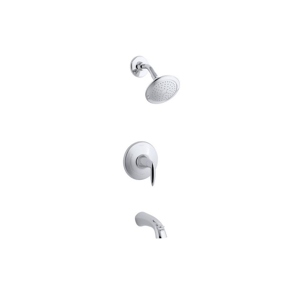KOHLER Alteo Rite-Temp Single-Handle 1-Spray Tub and Shower Faucet ...