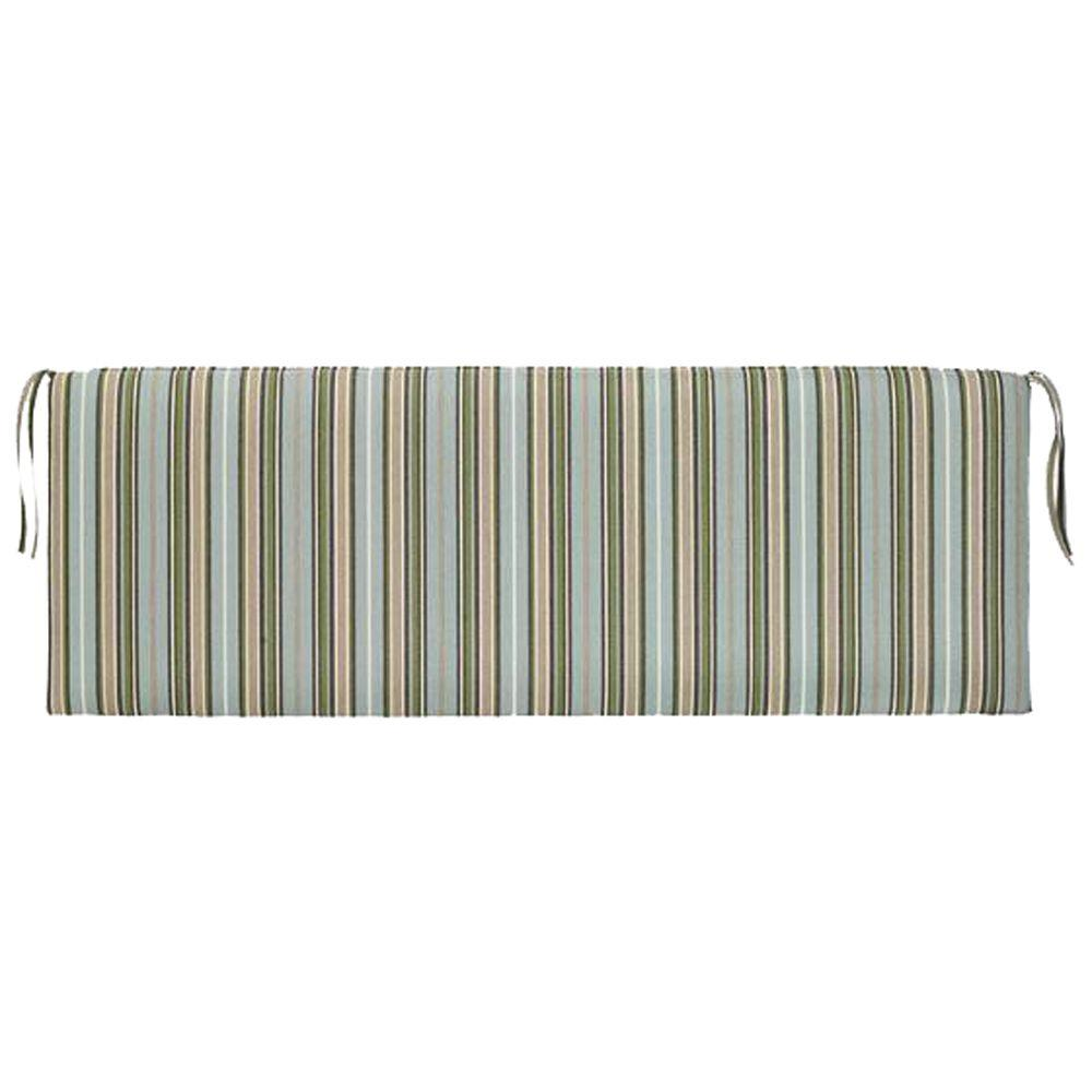 Home Decorators Collection Sunbrella Cilantro Stripe Outdoor Bench Cushion