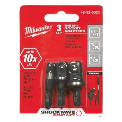 SHOCKWAVE IMPACT DUTY Insert Bit Socket Adapter Set (3-Piece)