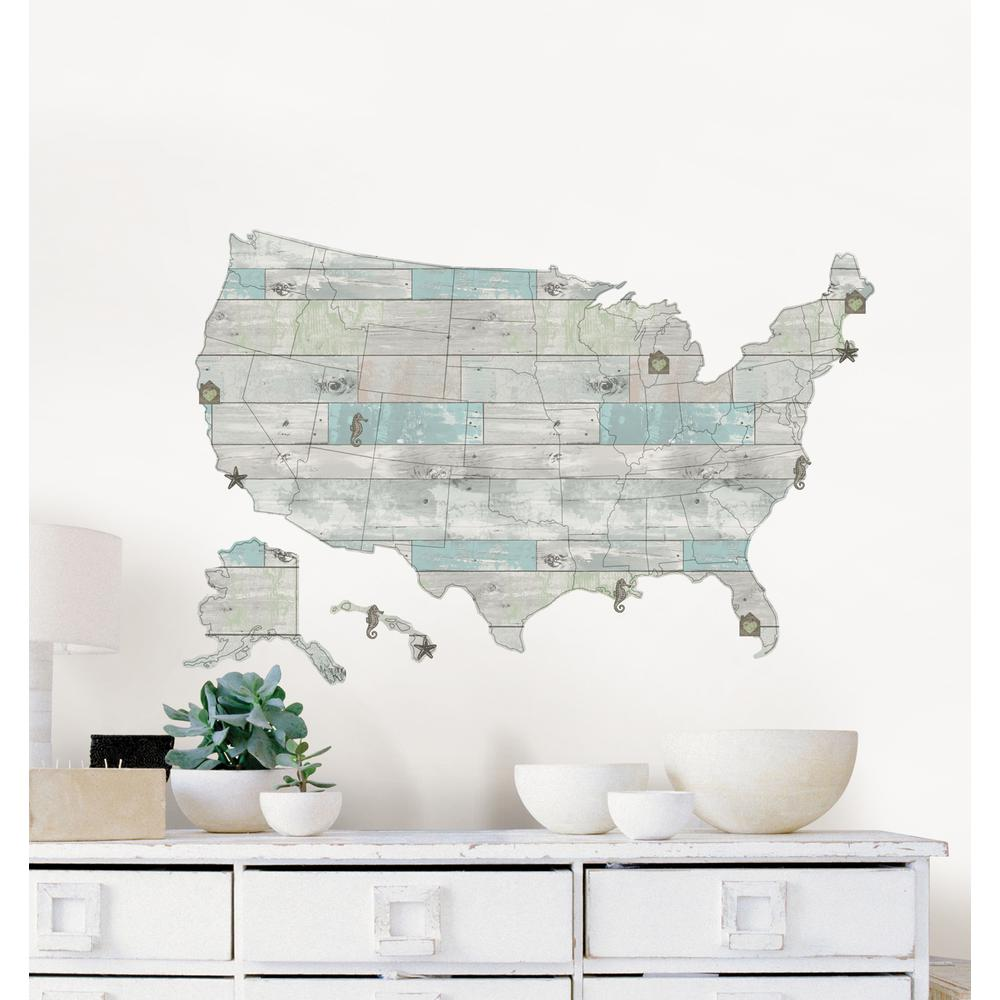24 in. x 36 in. Beach r US Map Decal Map Decals on map frame, map tile, map accessories, map tube, map guide, map design, map panel, map stencil, map clock, map engraving, map paper, map emblem, map clip, map decor, map tool, map wallpaper, map graphics, map of ireland counties, map laptop stickers,
