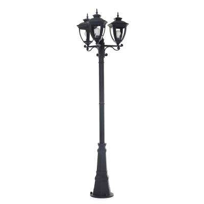 Alice 3-Light Outdoor Black Integrated LED Post Light