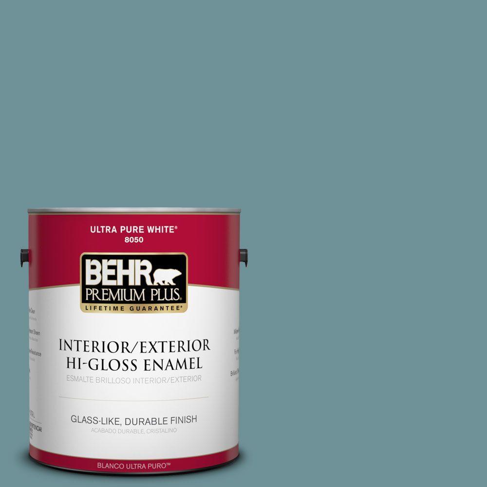 BEHR Premium Plus 1-gal. #510F-5 Bayside Hi-Gloss Enamel Interior/Exterior Paint