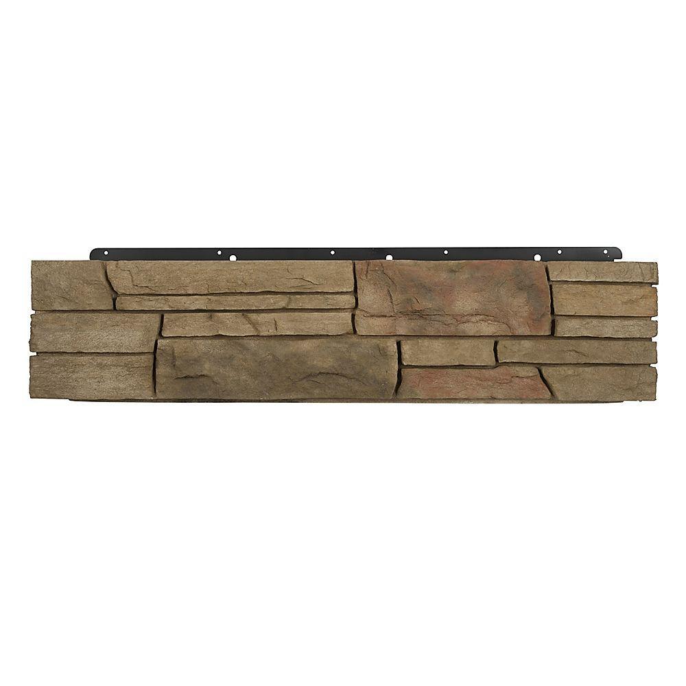 Boral 8 in. x 36 in. Versetta Stone Corner Ledgestone Terra Rosa Siding (6-Bundles Per Case), Multi-Colored -  4210586