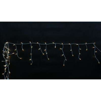 9.5 ft. 70-Light Mini Warm White Icicle Light