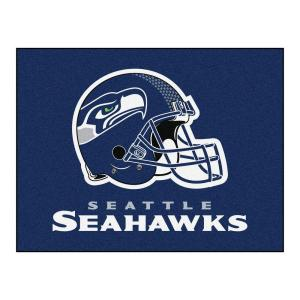 quality design ad286 d8d4d FANMATS NFL Seattle Seahawks Blue 3 ft. x 4 ft. Indoor All Star Area  Rug-5941 - The Home Depot
