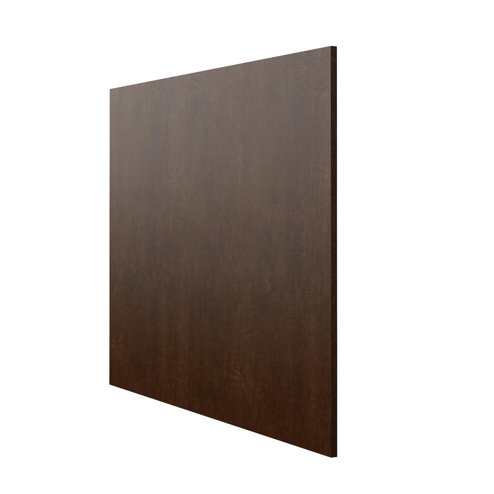 Designer Series 0.625x35x48 in. Base End Panel in Espresso