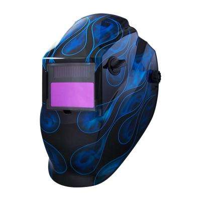 8700SGC Blue Flame 9 -13 Shade Auto Darkening Welding Helmet With 3.82 in. x 1.85 in. Viewing Area