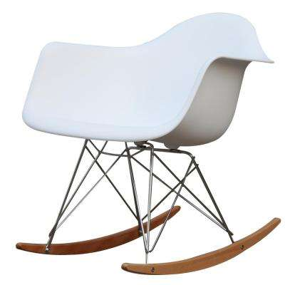 White Rocker Arm Chair