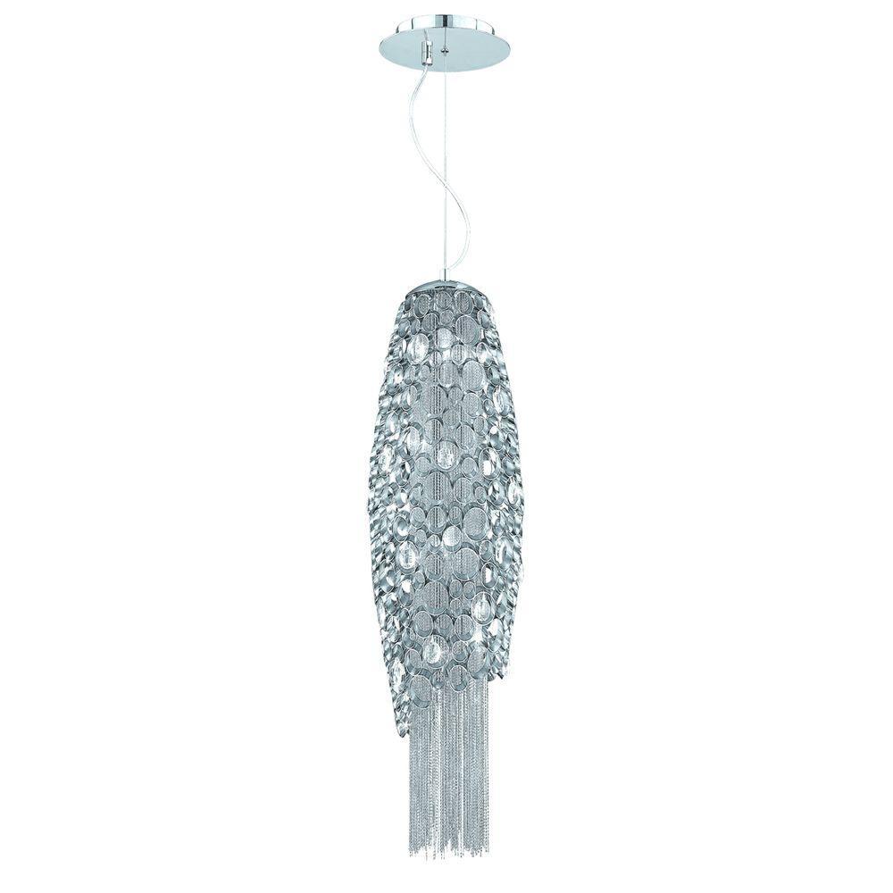 Eurofase Cameo Collection 4-Light Nickel Pendant