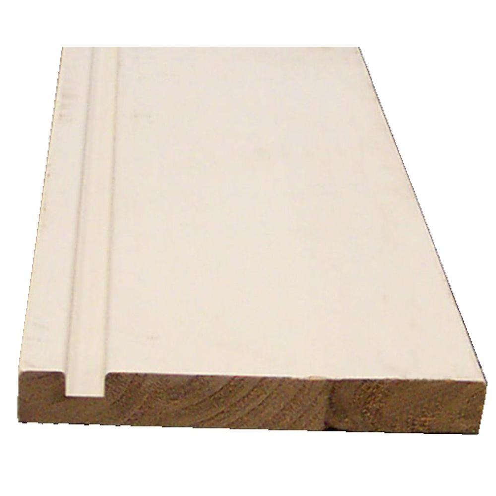 1 In X 6 In X 16 Ft Finger Joint Fir Double Plow Fascia Board 0502592 The Home Depot