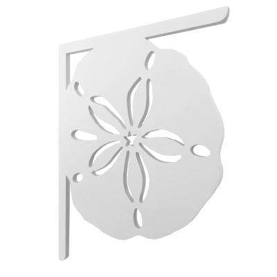 16 in. Paintable PVC Decorative Sand dollar Mailbox or Porch Bracket