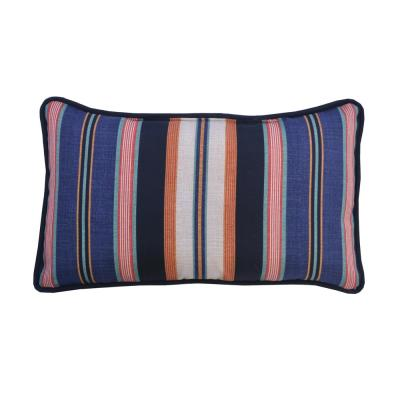 Caprice Stripe Lumbar Outdoor Throw Pillow (2-Pack)
