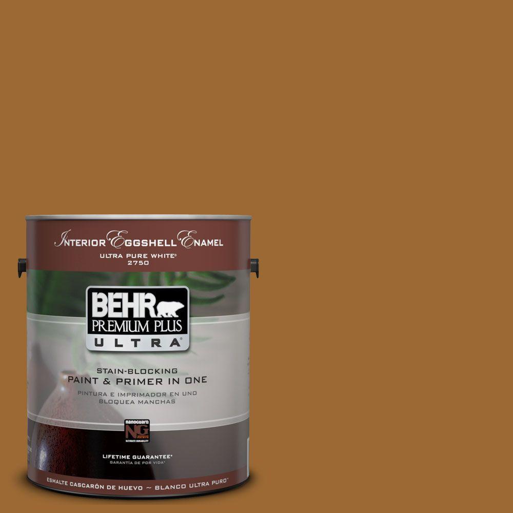 BEHR Premium Plus Ultra 1-Gal. #UL160-1 Curry Powder Interior Eggshell Enamel Paint